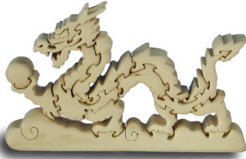 dragon wooden puzzle