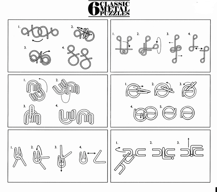 brain teasers metal puzzles instructions